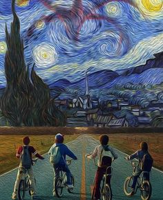 Stranger Van Gogh Things Stranger Van Gogh Things<br> More memes, funny videos and pics on Arte Pop, Van Gogh Tapete, Photo Snapchat, Stranger Things, Van Gogh Wallpaper, Van Gogh Pinturas, Pop Art, Van Gogh Art, Psychedelic Art