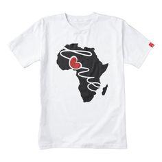 Africa Love Silhouette Heart T-Shirt Zazzle HEART T-Shirt