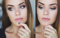 Lovely 'Soft Glam' Idea Gallery look by TheGalsGuide using Makeup Geek Brown Sugar, Peach Smoothie, Vanilla Bean, and Frappe.