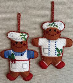Gingerbread Cooks a Ornaments ~ Canvases by Whimsy&Grace