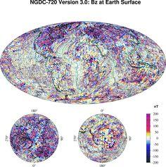 Earth's Crustal Magnetic Field