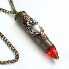 Bullet Necklace Ammo Jewelry  Aim for the by TrashAndTrinkets, $42.00