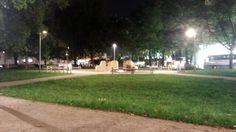 Schillerpark at night Dolores Park, Sidewalk, Night, Travel, Linz, City, Viajes, Side Walkway, Walkway
