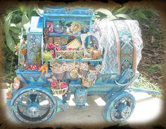 Miniature Gypsy Fairy Wagon by ~grimdeva