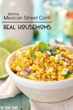 Skinny Mexican Street Corn | Real Housemoms