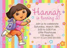 Dora the Explorer Printable Invitation by thepinkden on Etsy, $10.00