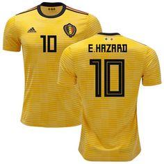 Men Eden Hazard Jersey Soccer Belgium Jersey 2018 World Cup Player Jersey 4a56ac523