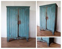 blauwe_houten_brocante_kast_sfeer