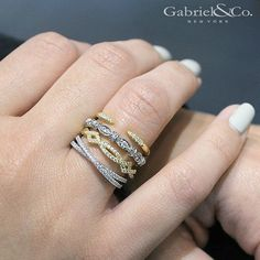 Stackable Rings by Gabriel & Co. Find yours at ID Jewelry LLC.
