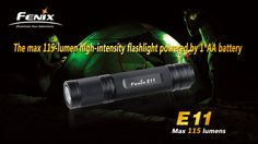 Fenix E11 is a mini high-intensity flashlight specially made for the outdoor sports. By twisting the light head, you can select between the two brightness levels rapidly. It combines the different needs of brightness and runtime reasonably. Plus with the advanced constant brightness technology and waterproofing to the IPX-8 Standard, the portable, compact and reliable E11 ensures you an easy and happy outdoor life.