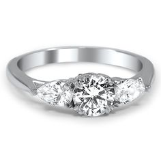 Three-Diamond Tapered Ring from Brilliant Earth