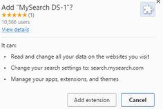 Entfernen MySearch DS-1: Schritt, um die Deinstallation Leitlinie Schritt – Saubere PC Malware