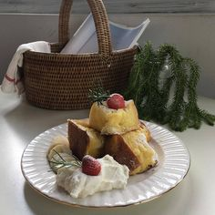 something special ♡ Kawaii Cooking, Cafe Food, Aesthetic Food, Coffee Cake, Cravings, Food Porn, Food And Drink, Tasty, Sweet