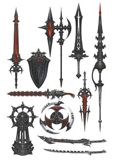 View an image titled 'Deepshadow Arms Art' in our Final Fantasy XIV: Shadowbringers art gallery featuring official character designs, concept art, and promo pictures. Ninja Weapons, Anime Weapons, Fantasy Sword, Fantasy Armor, Final Fantasy Xiv, Dark Fantasy Art, Arte Assassins Creed, Armas Ninja, Cool Swords