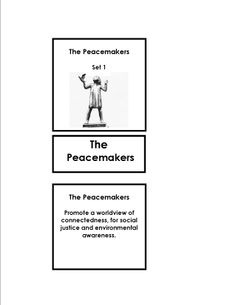 Who are the Peace Makers?............... Montessori Peace Education............... The Peace Makers 3 part cards