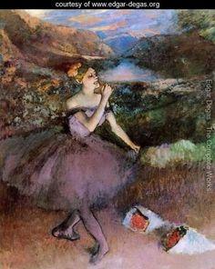 Dancer with Bouquets    Edgar Degas