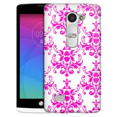 LG Leon Damasks Pattern Pink on White Slim Case