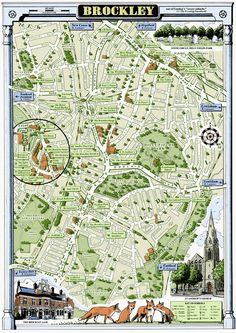Map of Brockley, South East London by Mike Hall