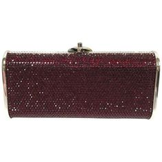 Preowned Judith Leiber Silver Framed Red Crystal Minaudiere Clutch Bag ($585) ❤ liked on Polyvore featuring bags, handbags, clutches, red, silver handbags, judith leiber minaudiere, silver evening clutches, special occasion clutches and evening clutches