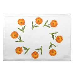 Placemat - Circle of Calendula - home gifts ideas decor special unique custom individual customized individualized Kitchen Gifts, Calendula, Placemat, Floral Flowers, Home Gifts, Flower Designs, Diy Ideas, Tapestry, Cool Stuff