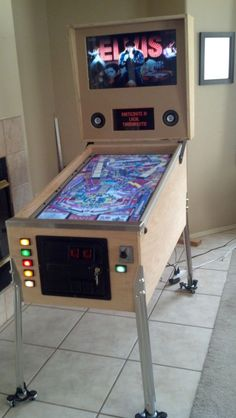 Mini Virtual Pinball Switch Plunger Arcade Cabinet Kit connects to a USB Encoder