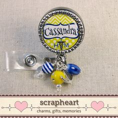 Nurse Name Badge Reel or Pull Naval Medical by ScrapheartGifts, $18.50