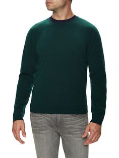 Cashmere Crewneck Ribbed Sweater