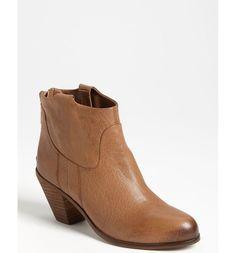 SAM EDELMAN SALE Lisle Ankle Boots Bootie Deep Brown Saddle Leather 11M #SamEdelman #AnkleBoots