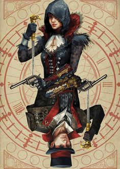 Motion GIF: Gemini season to draw Frye twins (for the time)! Frye Twins (still image) Arte Assassins Creed, Assassins Creed Black Flag, Asesins Creed, All Assassin's Creed, Jacob And Evie Frye, Mortal Kombat Comics, Assassin's Creed Brotherhood, Still Image, Persona