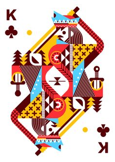 Royal Seasons Playing Cards by Ricky Linn - King of Clubs | more here: http://playingcardcollector.net/2014/11/06/royal-seasons-2-playing-cards-by-ricky-linn/