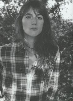charlotte gainsbourg, plaid shirt