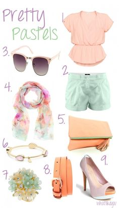 Pretty Pastels...mints, lilacs, peaches...I love spring!