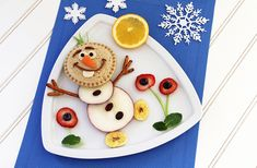 Frozen-Inspired Olaf Food Art