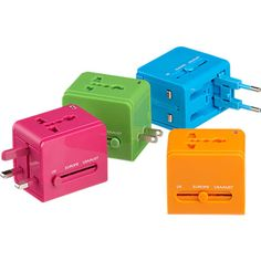 universal travel adapter in office accessories | CB2 (love that it's just one piece & still works in over 150 countries)
