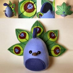 Peacock plushie by Saint_Angel  Could use paper cut outs for a card.