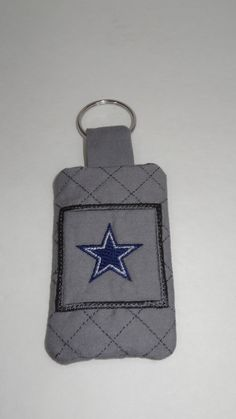 Dallas Cowboys Quilted Keychain with Card Holder Pocket by BrunosBling on Etsy