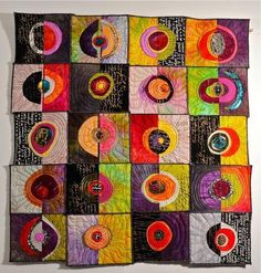 Connie Bloom: good color, fun compositions and stitching