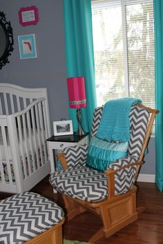 A #chevron glider looks great in almost any #nursery.