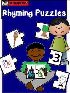This rhyming puzzle include 30 pieces that are large enough for small hands that are still developing fine motor skills.  Use this in literacy centers to strengthen phonological awareness with recognizing and matching rhyming pairs.Please comment and rate this item.