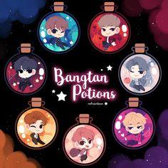 """We sell anime and kpop comics and merchandise :"""") Bts Birthdays, Kpop Drawings, Creative Artwork, Cute Friends, Bts Chibi, Bts Fans, Kpop Fanart, Kawaii Art, Bts Group"""
