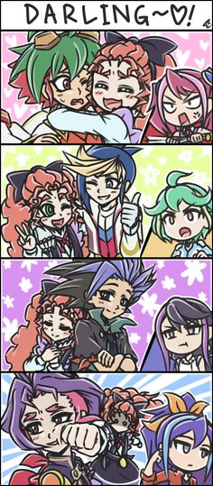 Tags: Anime, Pixiv Id 16893871, Yu-Gi-Oh!, Yu-Gi-Oh! ARC-V, Rin (Yu-Gi-Oh! ARC-V), Yuugo (Yu-Gi-Oh! ARC-V), Serena (Yu-Gi-Oh! ARC-V)