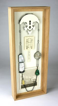 Zoe Arnold, Beneath the Above...jewelry display for shows or gallery?  Cool idea...