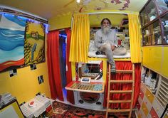 Jam Imani Rad, 65, has converted his council flat into a stunning home, complete with mosaics inspired by Gaudí The retired teacher spent $3,000 (£2,000) of his own money and around 11 years to finish the lavish interior decorations This was despite him being ordered to dig up the $7,000 (£5,000