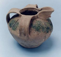 Medieval pottery pitcher, probably imported from the Bordeaux area of France along the River Severn trade route in the fourteenth century, and discovered during excavations on the Lychgate site in the 1960s.