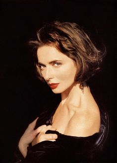 """Isabella Rossellini by Sante D'Orazio...She usually plays a woman who's only motive is self gain. Many men love her in """"The Saddest Music in the World"""" and women envy the immortal queen in """"Death Becomes Her:"""