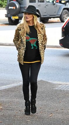 Coach is responsible for the adorable T. rex knit sweater Kate Moss is rocking this season.