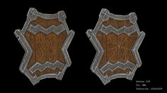 Stylized orc shield, CG Elric on ArtStation at https://www.artstation.com/artwork/stylized-orc-shield