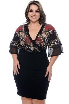 Vestido Plus Size Késila