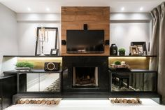 Sala de estar I Living Room I Living Room Design I Living Room Appliances I Living Room Decor I Modern Living Room I Comfort I Fireplace I Firewood