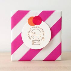 Cute striped wrapping